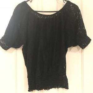Black Lacey Top